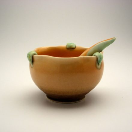 B105A&B: Main image for Bowl and Spoon made by Geoffrey Wheeler