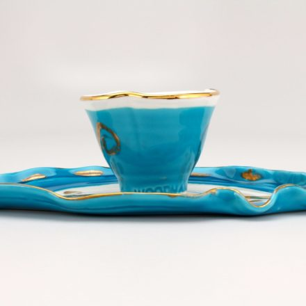 CP&S32: Main image for Cup and Saucer made by Betty Woodman
