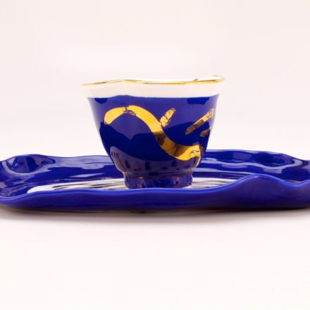 CP&S33: Main image for Cup and Saucer made by Betty Woodman