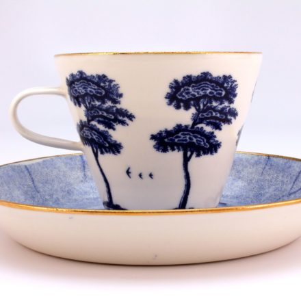 CP&S34: Main image for Cup and Saucer made by Ann Linnemann Paul Scott